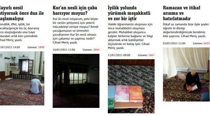 RAMAZAN ve İTİKAF HOŞGELDİNİZ